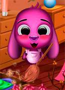 Уборка в доме Тото - Онлайн игра для девочек