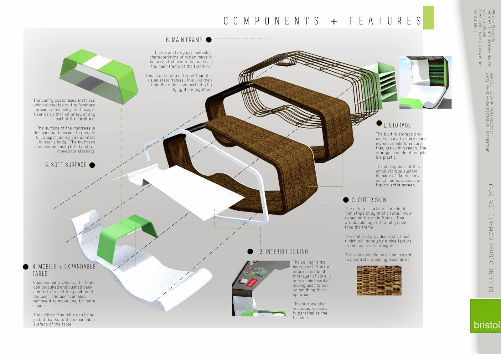 The standard office environment limits movement which will trigger stress   The soft surface of the furniture allows the user to either lie down. Furniture Design For Bristol Student Competition   KHZNH STUDIO