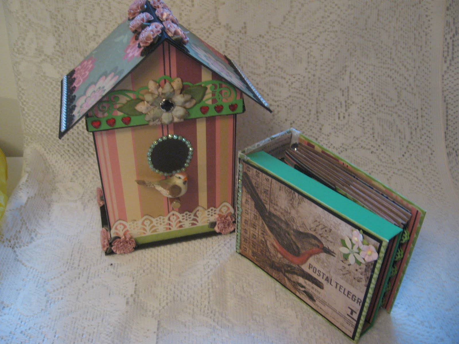 Birdhouse Scrapbook Mini Album Set