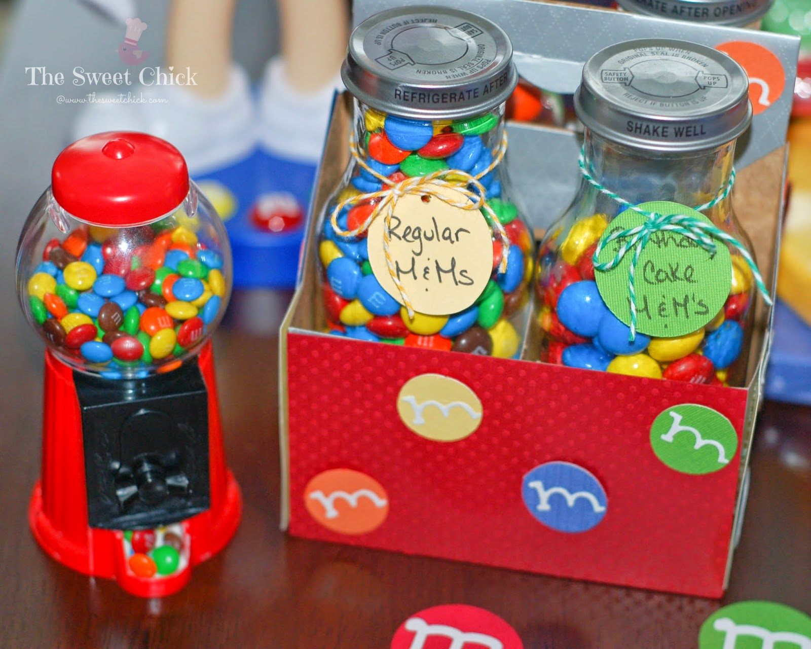 M&M Party Decorations by The Sweet Chick