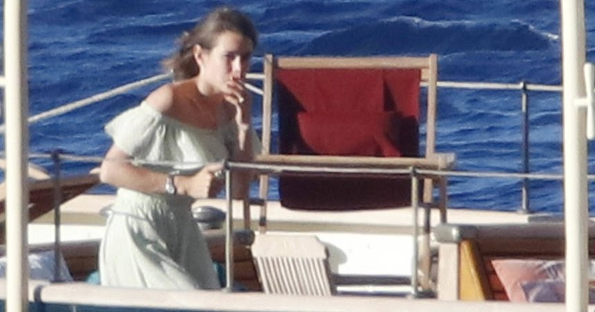 Charlotte Casiraghi On The Yacht Pacha III Newmyroyals