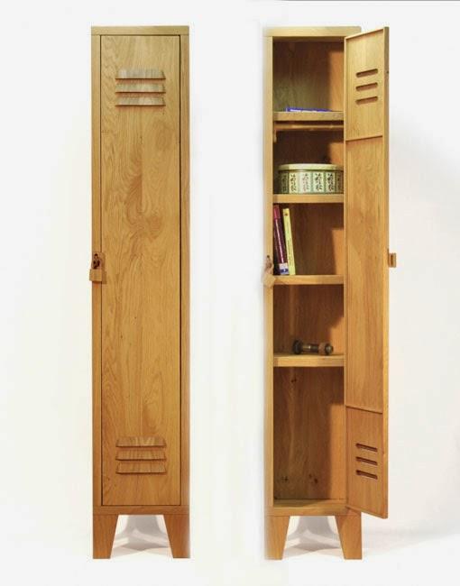 Marzua armario de madera con forma de taquilla - Disenador de armarios ...