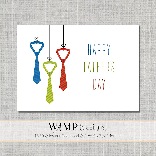 Colorful Ties Fathers Day Card