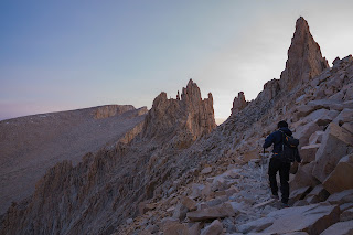 Mount Whitney summit in sight