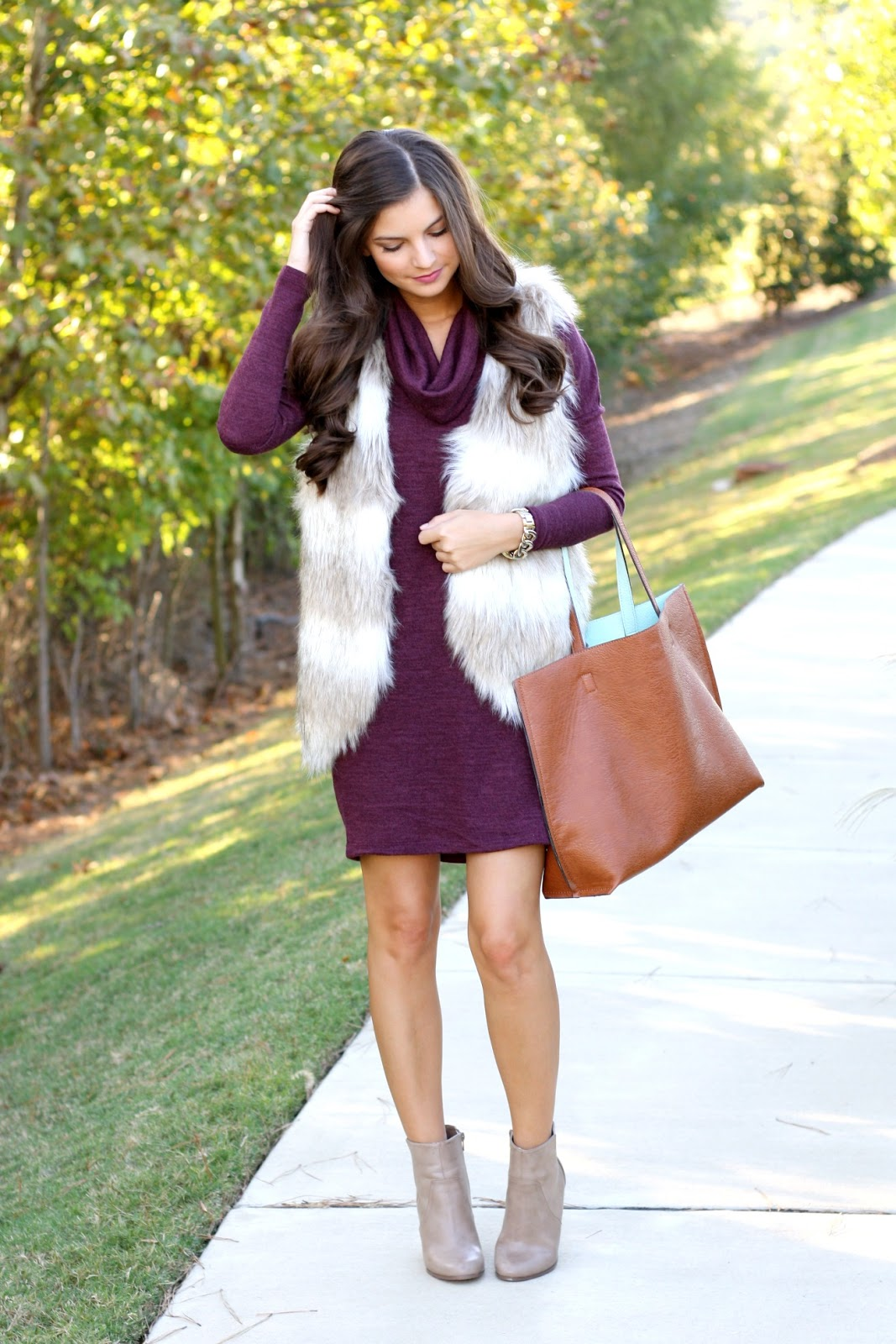 Chasing Abigail Lee : 3 Ways to Wear a Fur Vest This Fall