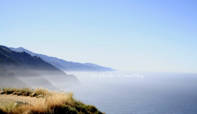 Foggy sky along Pacific Coast Highway