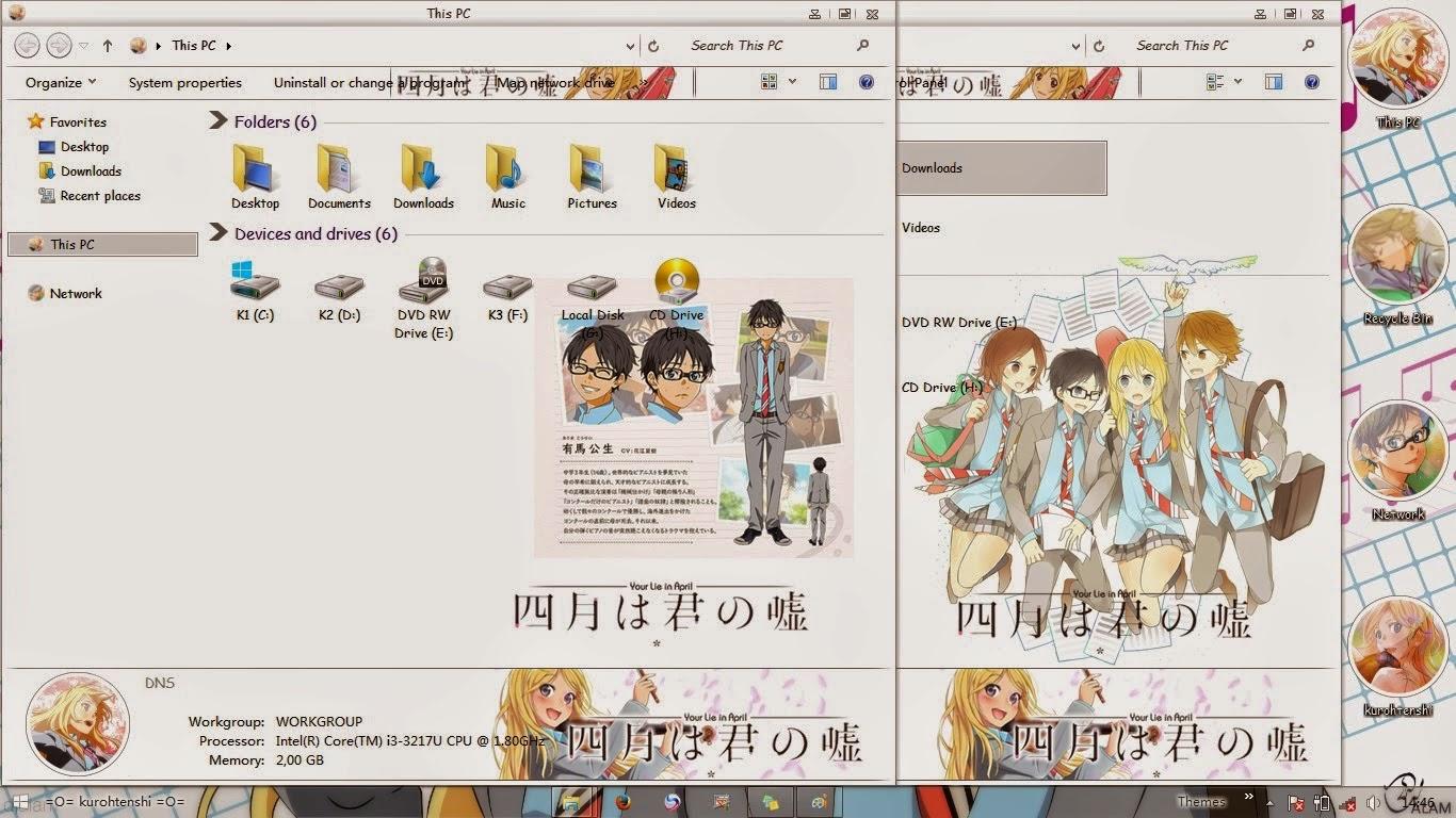 Shigatsu wa Kimi no Uso Win 8/8.1 Theme
