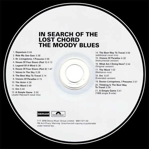 Point Blank Games Moody Blues In Search Of The Lost Chord 1968