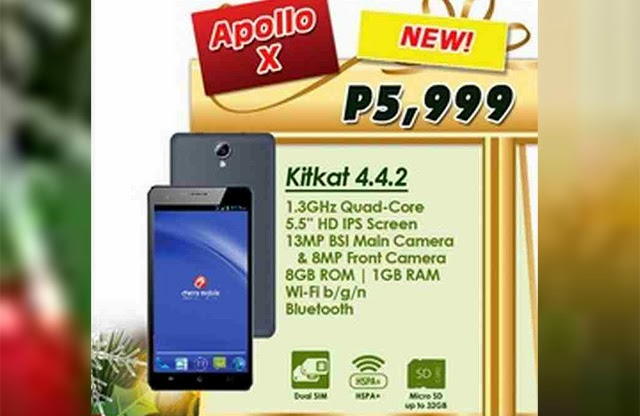Cherry Mobile Apollo X with 5.5-Inch Display and 13MP BSI Camera – Specs, Price and Features