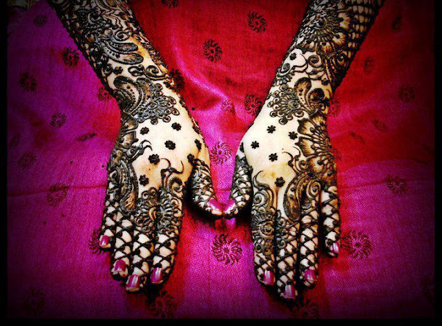 Latest Bridal Mehndi Designs 2012