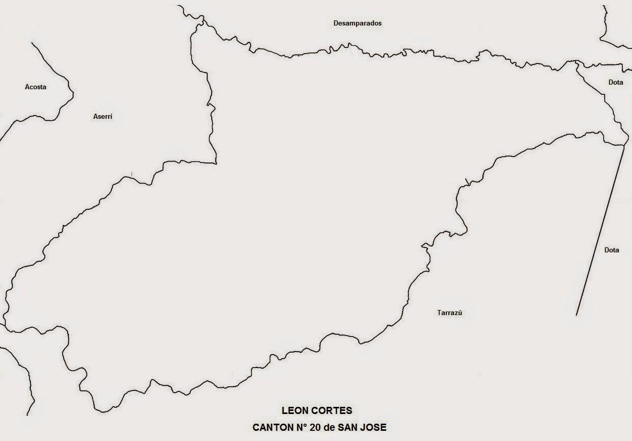 Mapa Blanco y negro de Leon Cortes