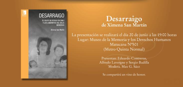"""PRESENTACIÓN LIBRO """"DESARRAIGO"""""""