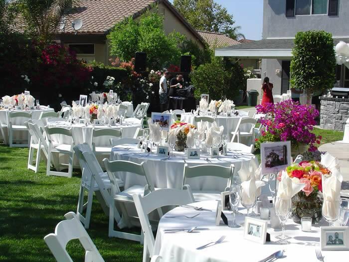 Wedding flower wedding candles wedding decorating for Backyard decorating ideas cheap