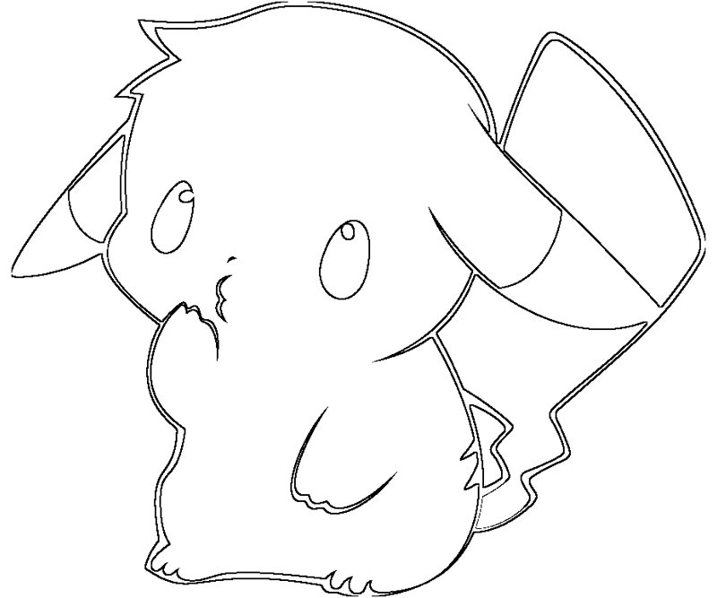 Cute baby pikachu coloring pages - photo#14