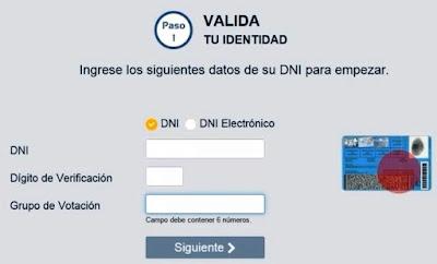 Elige tu centro de votacion valida tu identidad