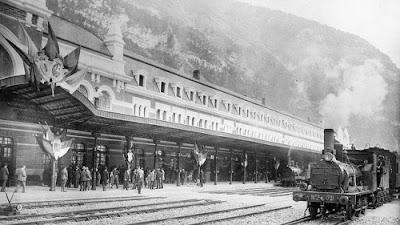 Estació de Canfranc, 1928