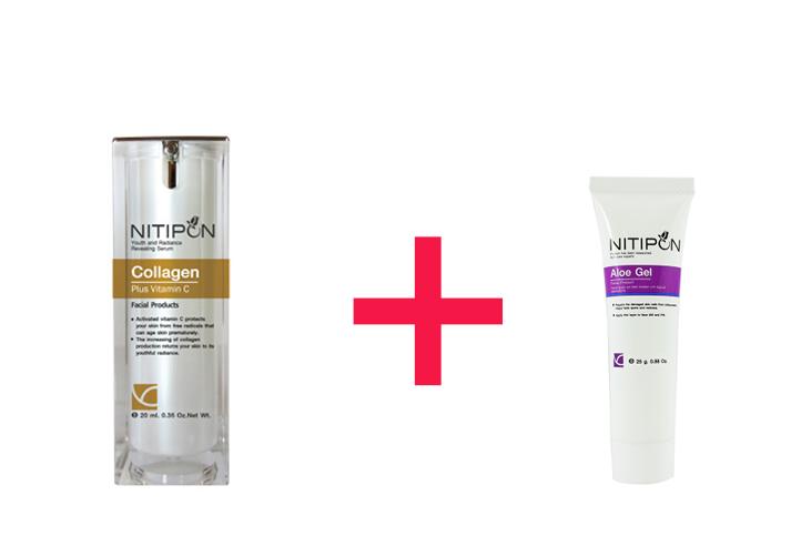 Collagen Plus Vitamin C กับ Aloe gel ของนิติพลคลินิก