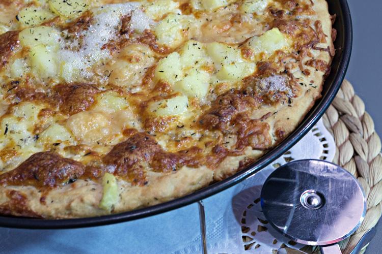receta de pizza de patatas