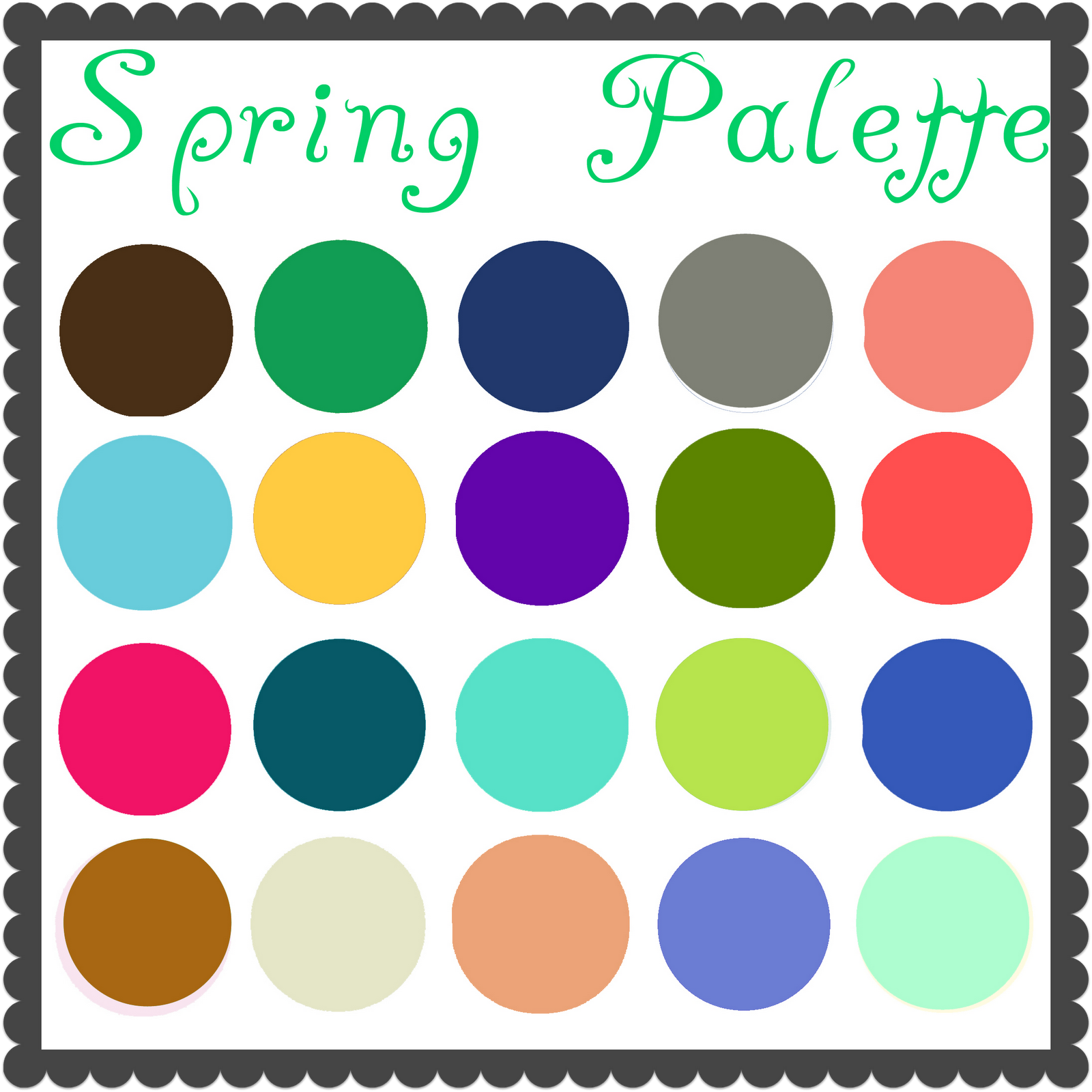 The Gallery For Clear Spring Color Palette Makeup