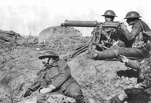 Machine Gun World War 1 The vickers machine gun came