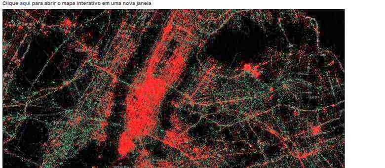 Mapas associam iPhone a regiões ricas e Android, a mais pobres