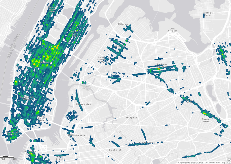 29 degrees north mapping nyc parking tickets