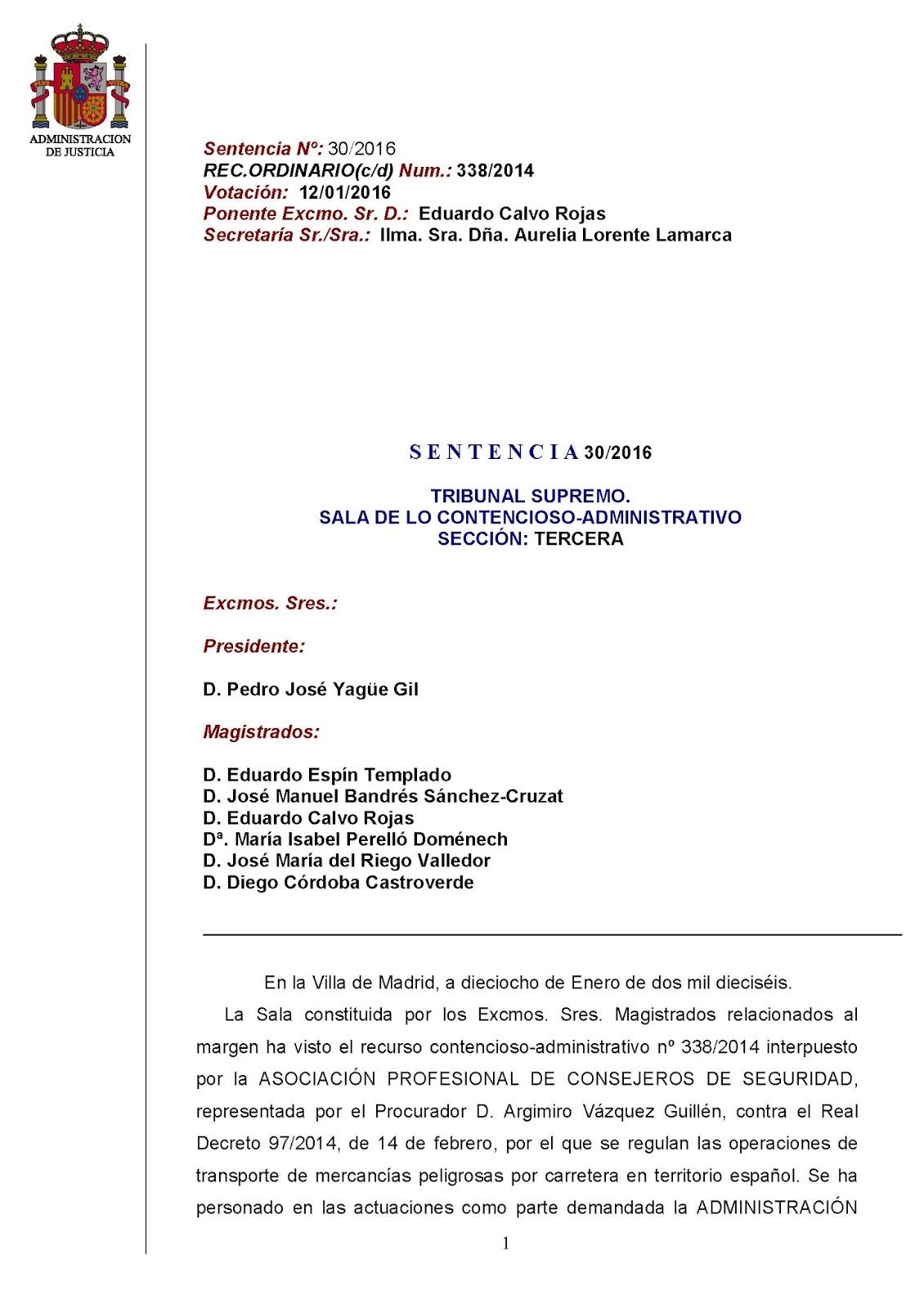 Blog de noticias sobre transporte de mercanc as peligrosas for Sala 4 tribunal supremo