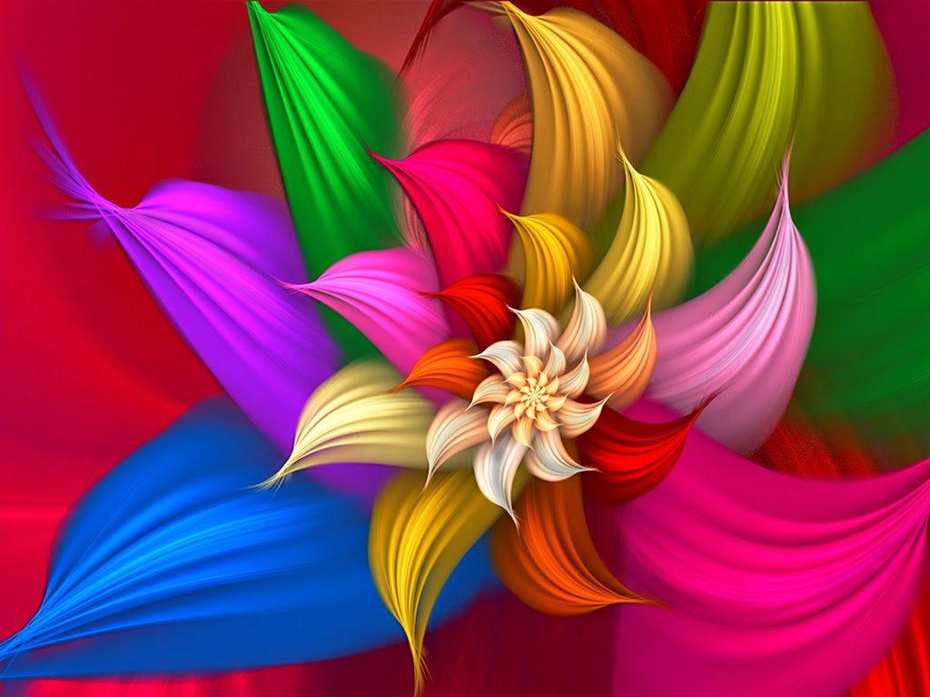 Abstract colorfull Flowers hd wallpaper, Images, Photos, Pics