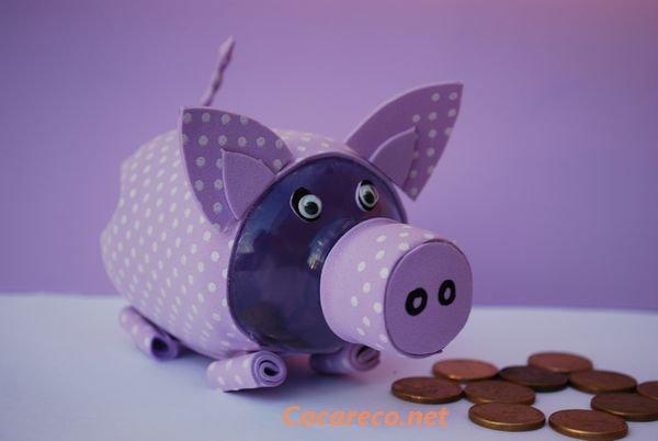 Artesanato Garrafa Pet Pequena ~ variadas coisas Como Fazer Um Cofrinho Com Garrafas Pet