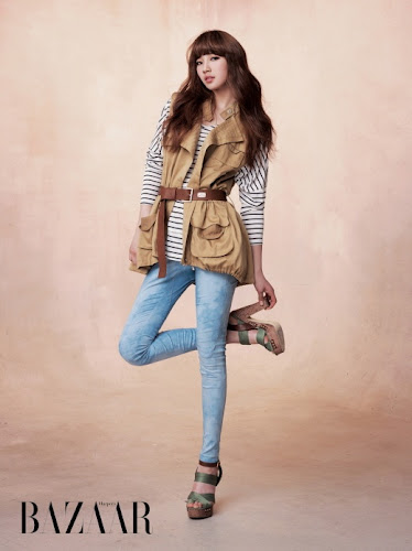 Foto Suzy Miss A 2011 for Harper's Bazaar Part 2 Celebrity fashion magazine Pic