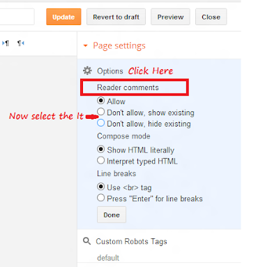Disable Comment Box in Page of Blogger And Also In Post