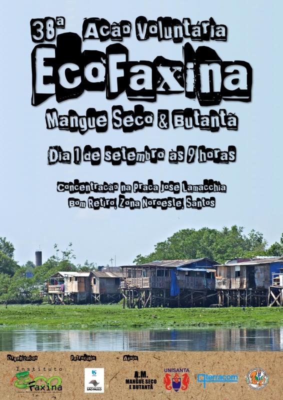 Cartaz da 38ª Ação Voluntária EcoFaxina