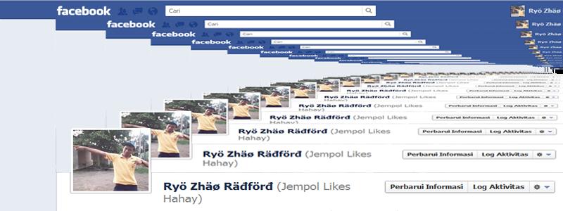 mau nambah'in gambar lainnya juga bisa, kayak cover FB aku, hehe