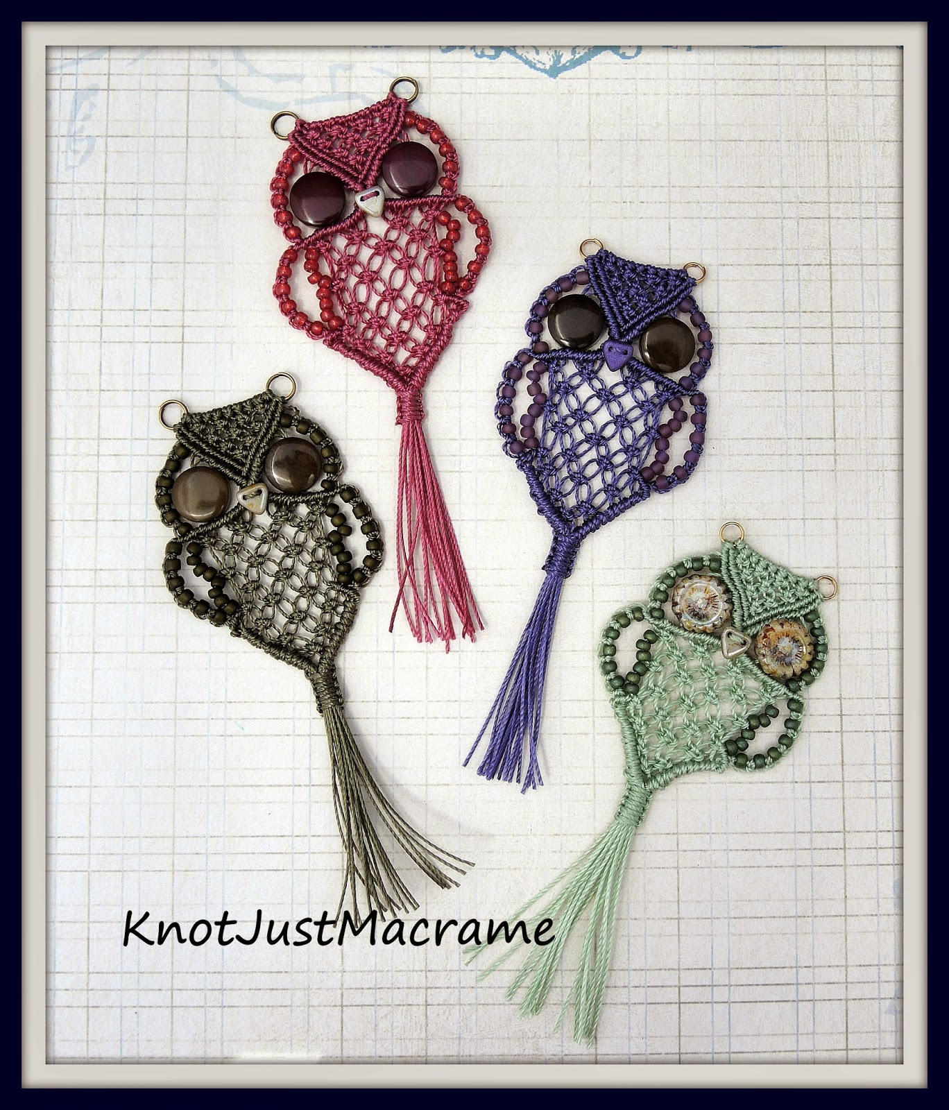 Retro macrame owls, a throwback to the 1970's!