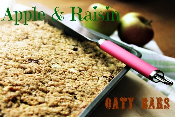 Apple and Rasin Oaty Bars
