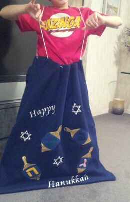 re-useable hanukkah gift bag
