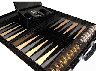 photos of geoffrey parker alligator stingray backgammon set
