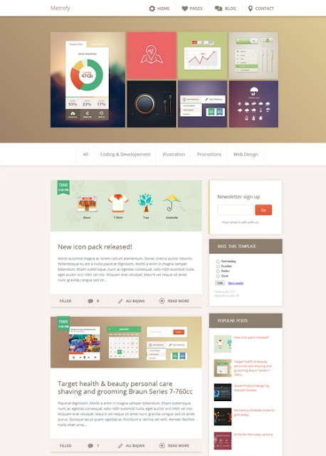 Metro Blogger Template - Best Blogger Theme to Get in 2016