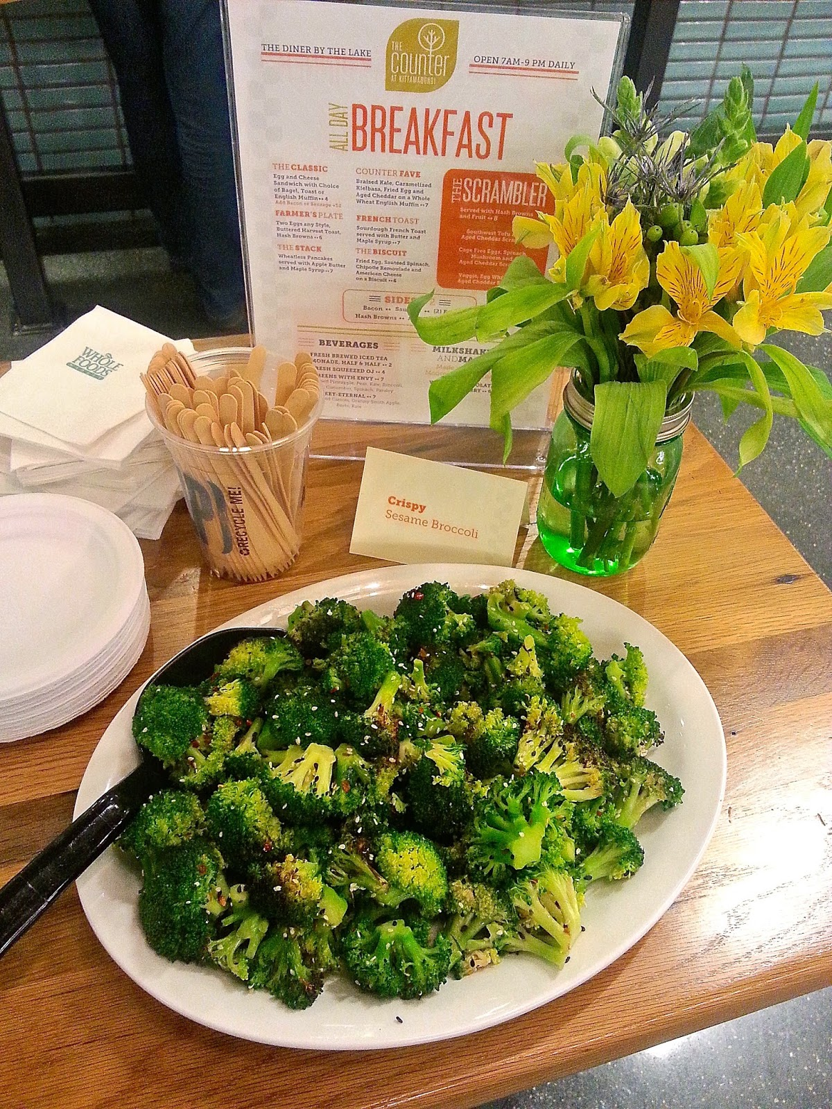 crispy sesame broccoli at whole foods market columbia