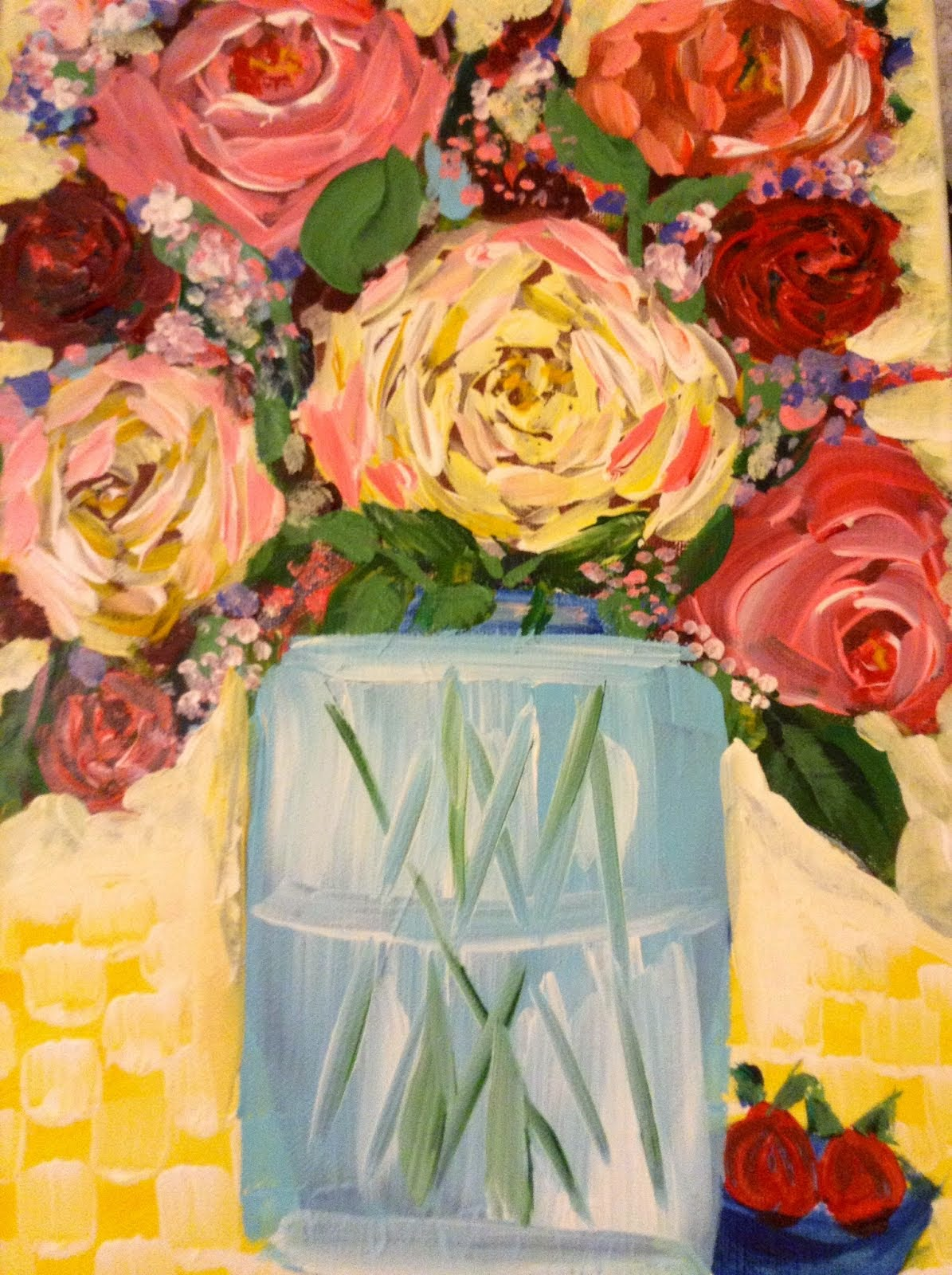 Joyful flowers diane Christians art