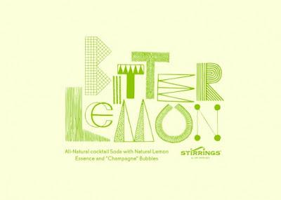 Miriam Altamira designed water bottles-bitter lemon