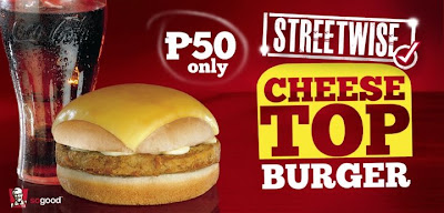 KFC Philippines Cheese Top Burger