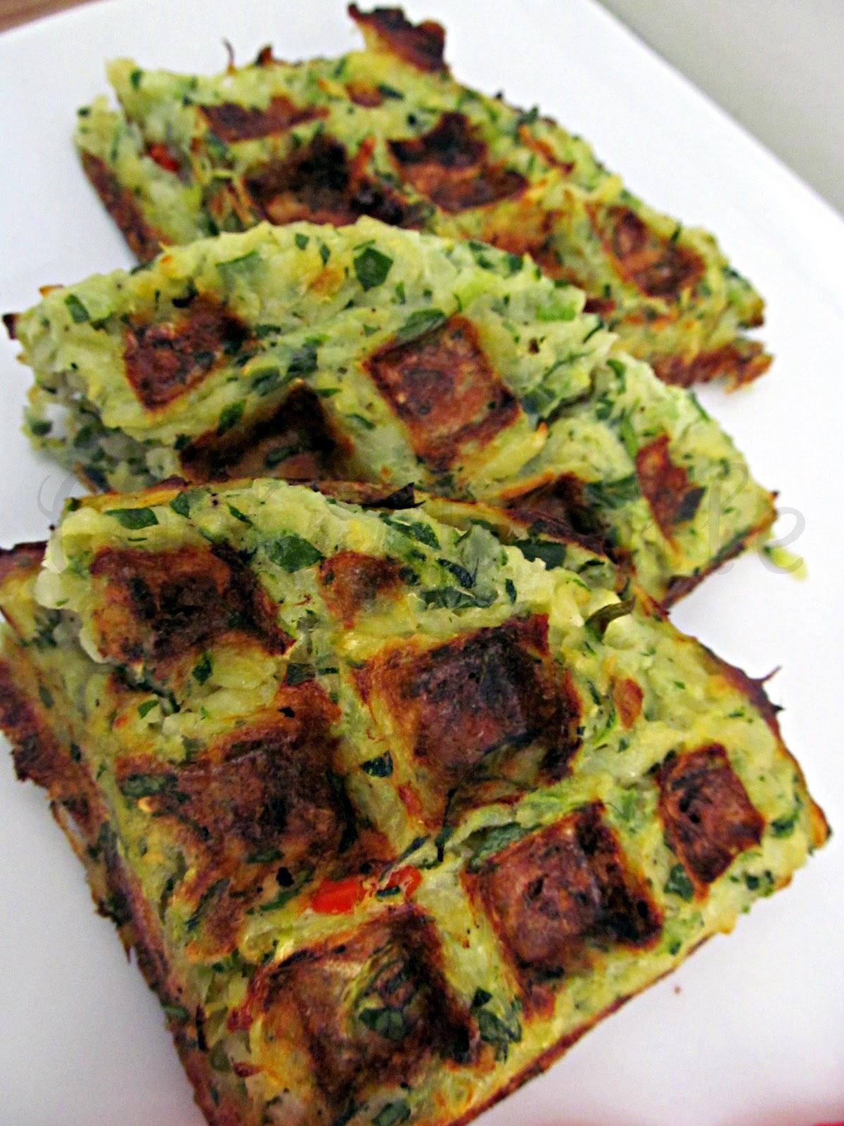 Zucchini-Potato Hash Brown Waffles - The Schizo Chef