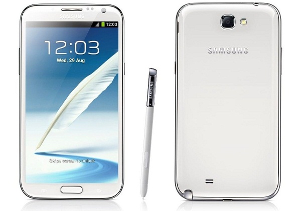 Samsung Galaxy Note II Back and Front View