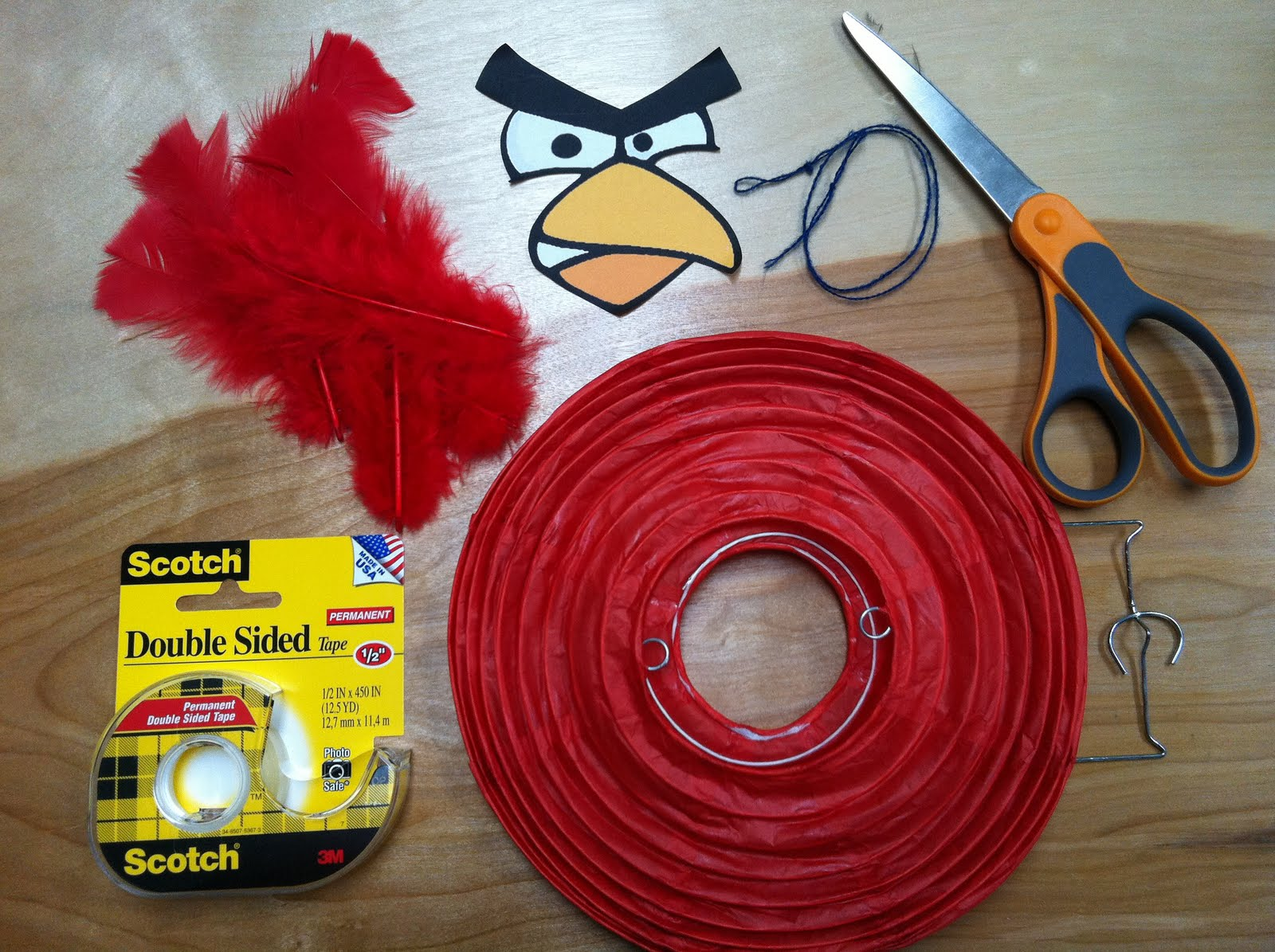the contemplative creative angry birds lantern decorations