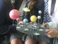 maqueta sistema planetario