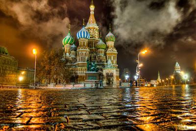 Catedran de San Basilio en Moscú, Rusia.