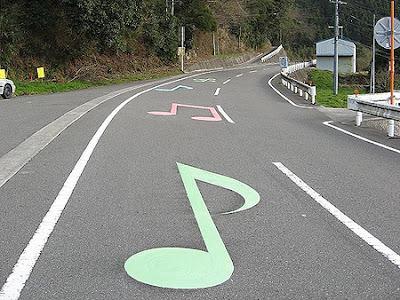 """""""Melody Road"""", Jalan Yang Mengeluarkan Muzik Di Jepun"""