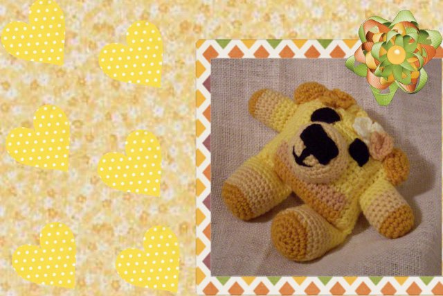 goldy crochet flowerumi bear pattern