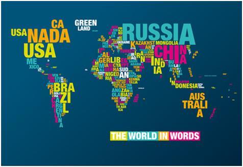 Victorian secrets the world in words lo ms de lo ms es esta fusin del texto con la imagen creando este diseo del mapa del mundo tan original que adems nos ensea o recuerda algo de gumiabroncs Images